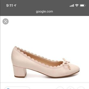 Pale pink women's shoes